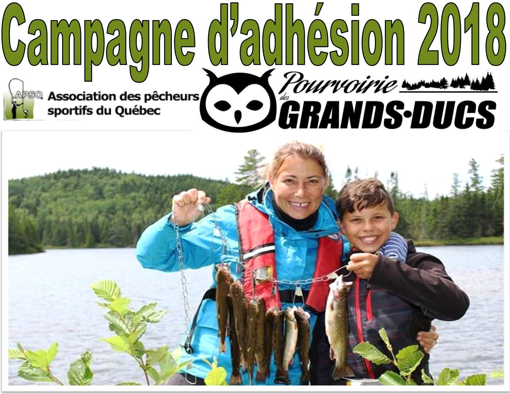 Campagne d'adhésion 2018 - Pourvoirie des Grands-Ducs