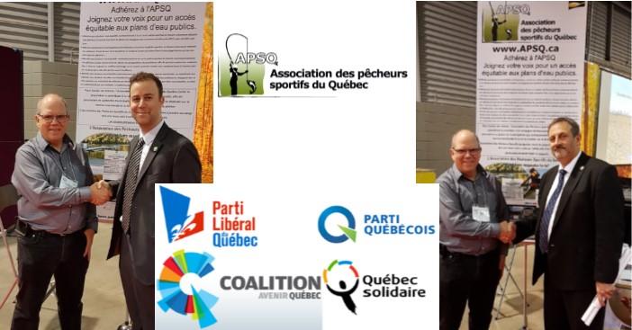 Accès aux plans d'eau publics, l'APSQ demande aux partis politiques de se commettre.