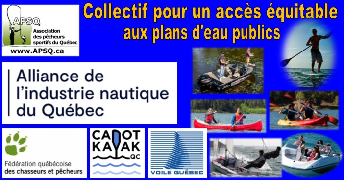Donnez votre appui au collectif pour un accès équitable aux plans d'eau publics