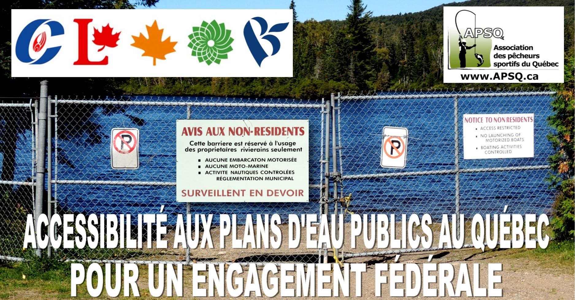 L'accès aux plans d'eau publics au Québec est un enjeu politique